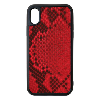 Red Python Snakeskin iPhone X/XS Case