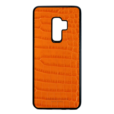 "Orange Croc ""3"" Galaxy S9 Plus Case"