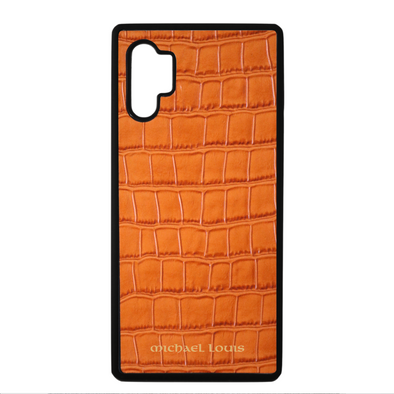 Orange Croc Galaxy Note 10 Plus Case