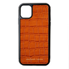 Orange Croc iPhone 11 Case