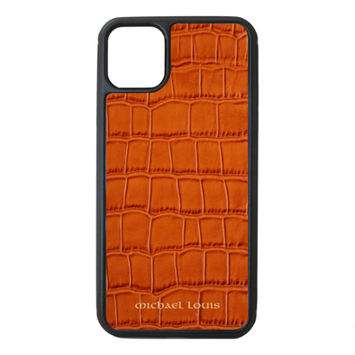Orange Croc iPhone 11 Pro Max Case