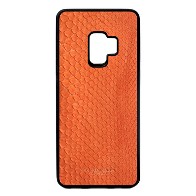 Orange Python Snakeskin Galaxy S9 Case