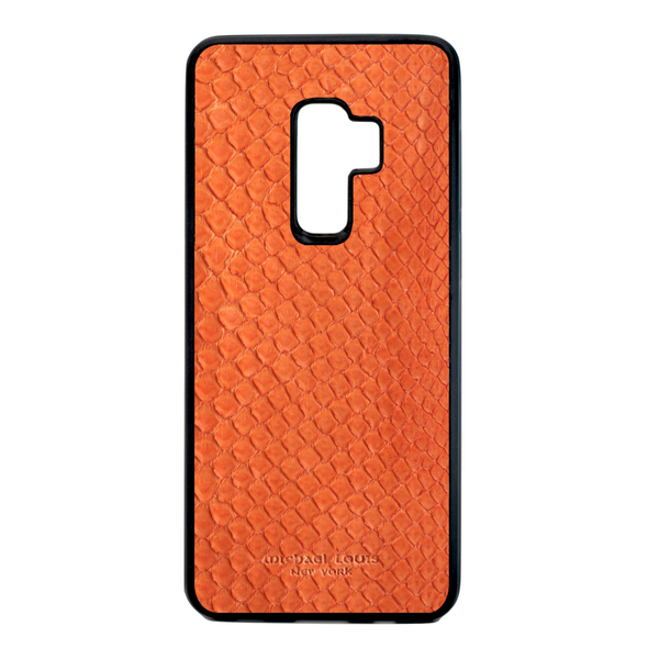 Orange Python Snakeskin Galaxy S9 Plus Case