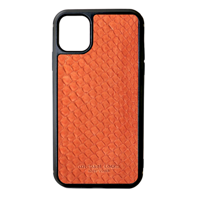 Orange Python Snakeskin iPhone 11 Case