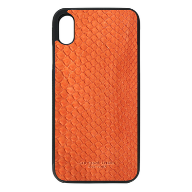 Orange Python Snakeskin iPhone XR Case