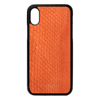 Orange Python Snakeskin iPhone X/XS Case