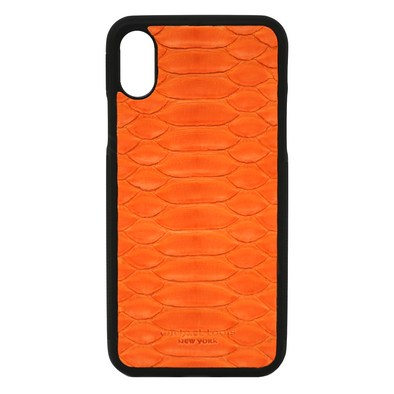Orange Python iPhone X Case