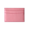 Pink Pebbled Leather Classic Card Holder