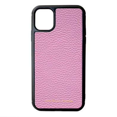 Pink Pebbled Leather iPhone 11 Case