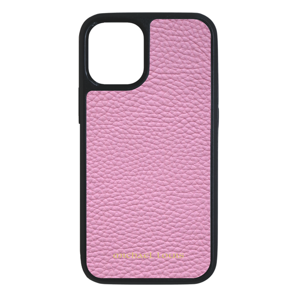 Pink Pebbled Leather iPhone 12 Mini Case