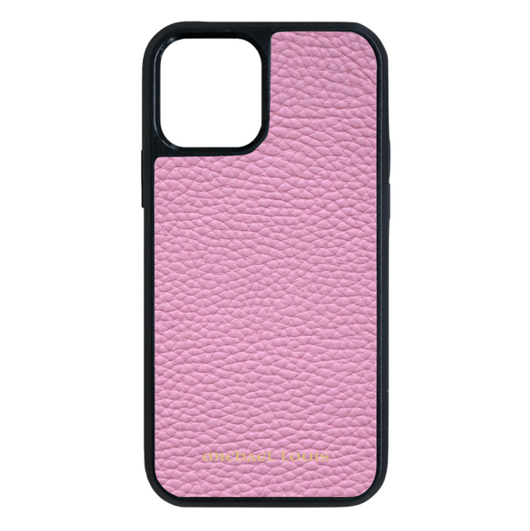 Pink Pebbled Leather iPhone 12 Pro Max Case
