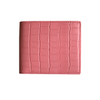 Pink Croc Classic Bifold Wallet