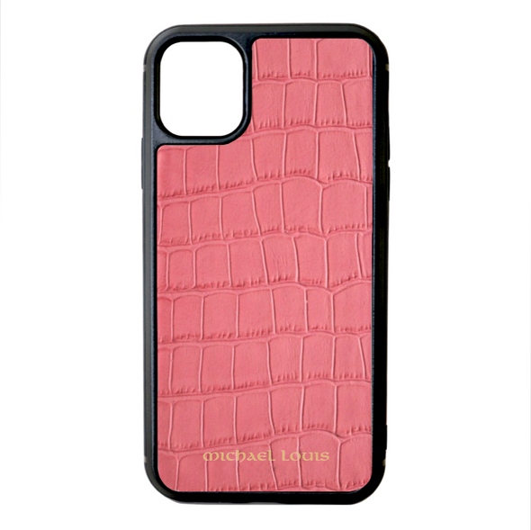 Pink Croc iPhone 11 Case