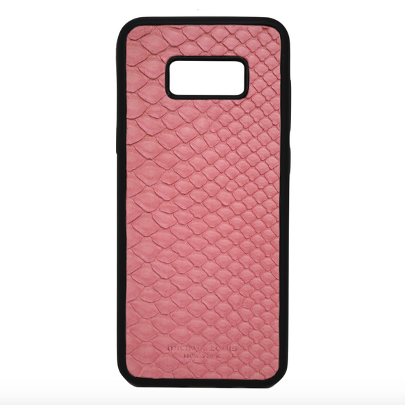 Pink Snakeskin Galaxy S8 Plus Case