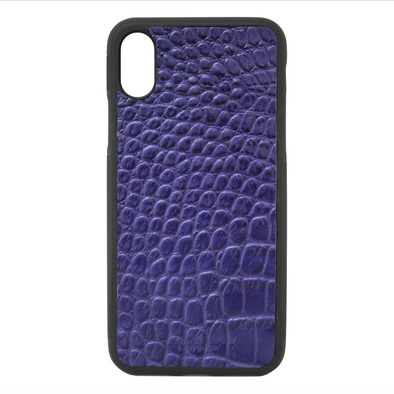 Purple Croc iPhone XR Case