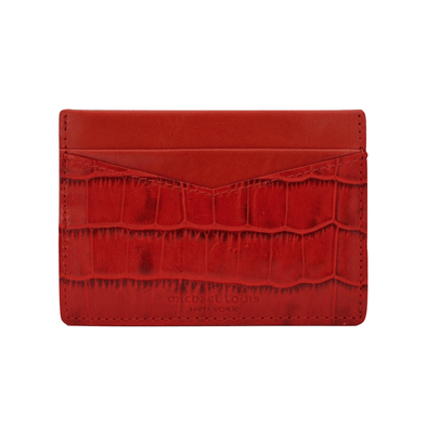 Red Croc V2 Card Holder