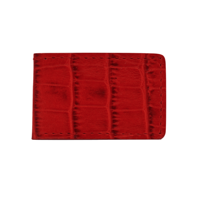 Red Croc Embossed Money Clip