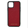 Red Pebbled Leather iPhone 11 Pro Case