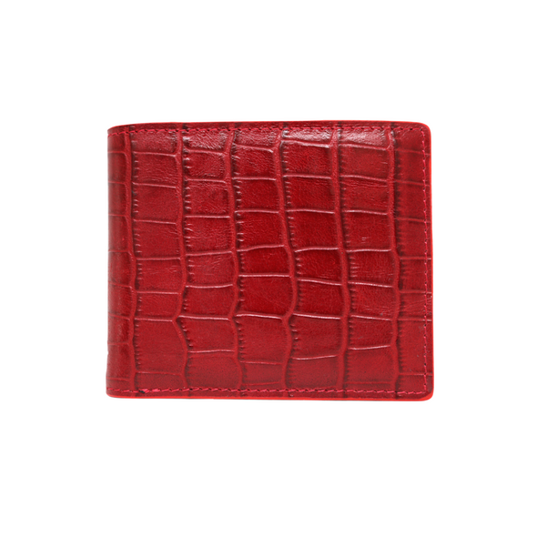 Red Croc Classic Bifold Wallet