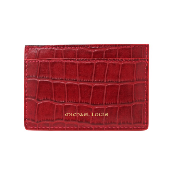 Red Croc Classic Card Holder