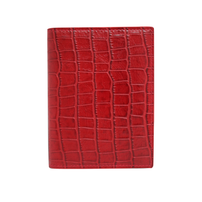 Red Croc Passport Holder