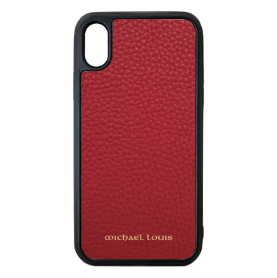 Red Para Leather iPhone XS Max Case