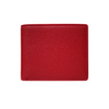Red Pebbled Leather Classic Bifold Wallet