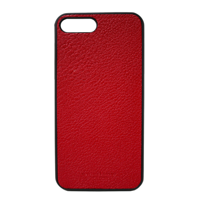 Red Pebbled Leather  iPhone 7 Plus / 8 Plus Case