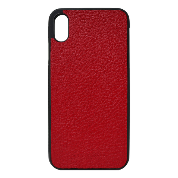 Red Pebbled Leather iPhone XR Case