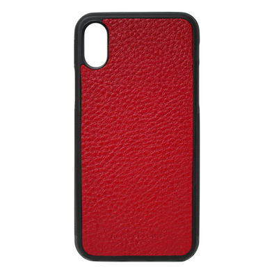 Red Pebbled Leather iPhone X/XS Case
