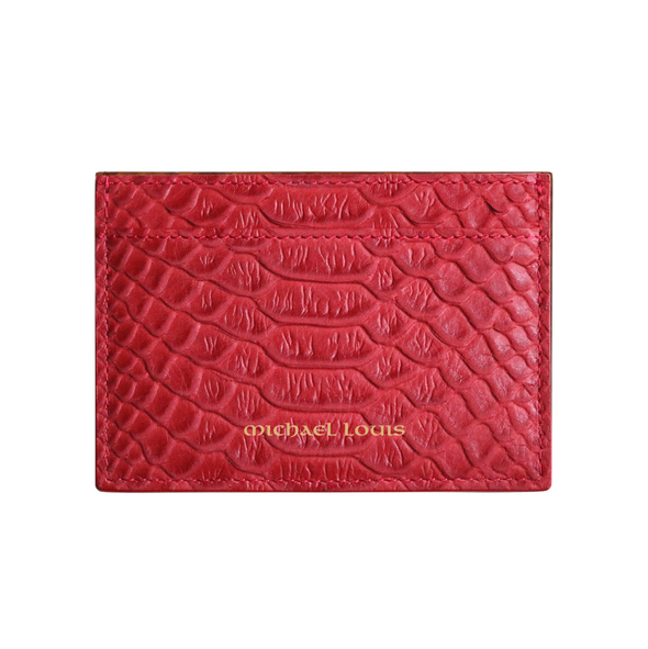 Red Python Classic Card Holder