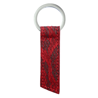 Red Python Ribbon Key Holder