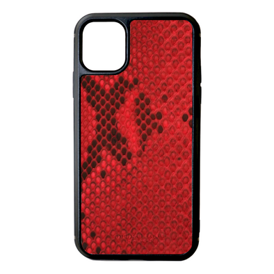 Red Python Snakeskin iPhone 11 Case