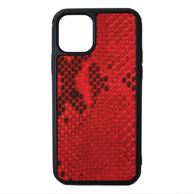 Red Python Snakeskin iPhone 11 Pro Case