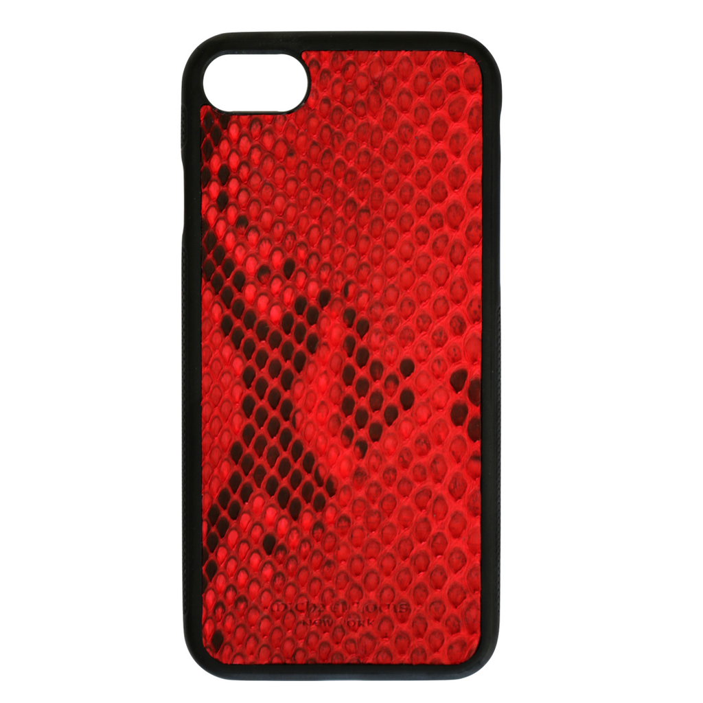 new product 9cb79 ed711 Red Python Snakeskin iPhone 7 / 8 Case