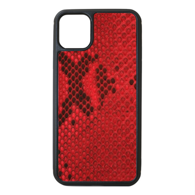 Red Python Snakeskin iPhone 11 Pro Max Case