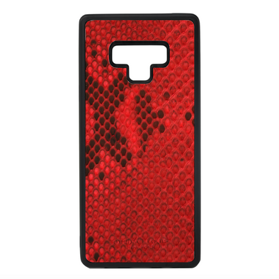 Red Snakeskin Galaxy Note 9 Case