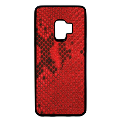 Red Python Snakeskin Galaxy S9 Case