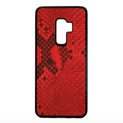Red Python Snakeskin Galaxy S9 Plus Case