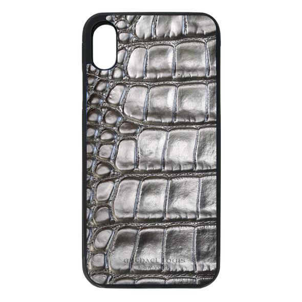 Silver Croc iPhone XR Case