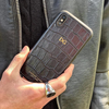 Black Croc iPhone XR Case
