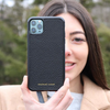 Black Pebbled Leather iPhone 11 Case