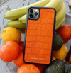 Orange Croc iPhone 11 Pro Case