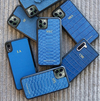 Blue Python iPhone 11 Case