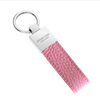 Pink Pebbled Leather Classic Key Holder