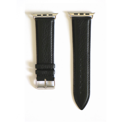 Black Pebbled Leather Apple Watch Strap (42/44 mm)