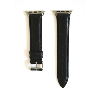 Black Pebbled Leather Apple Watch Strap (38/40 mm)