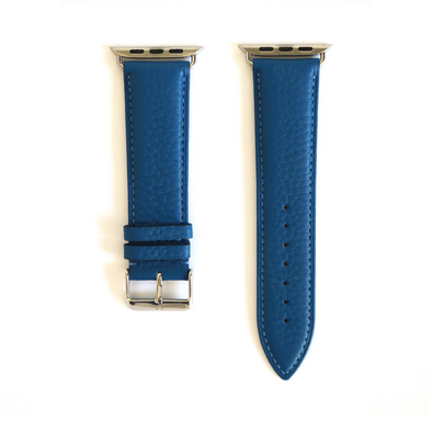 Blue Pebbled Leather Apple Watch Strap (42/44 mm)