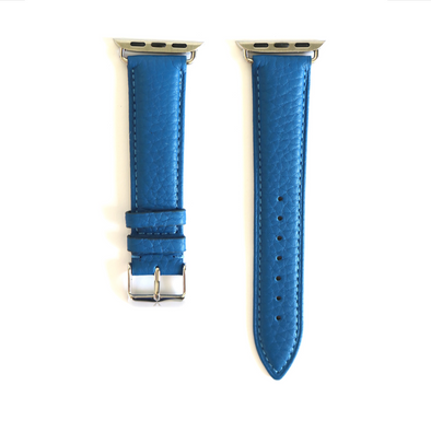 Blue Pebbled Leather Apple Watch Strap (38/40 mm)