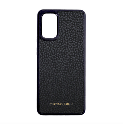 Black Pebbled Leather Galaxy S20 Case